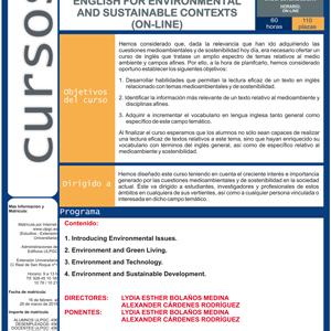 Curso de Inglés para contextos ambientales y sostenibles